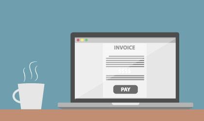 Laptop - Invoice - Pay